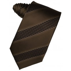 Chocolate Venetian Stripe Suit Tie