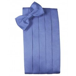 Cornflower Solid Satin Cummerbund