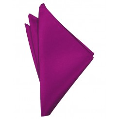 Cassis Solid Satin Pocket Square