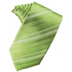 Clover Striped Satin Suit Tie
