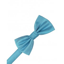 Blue Ice Herringbone Bowtie