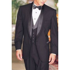 'Double Shawl' 1-Button Double Lapel Shawl Tuxedo Jacket by Oscar de la Renta