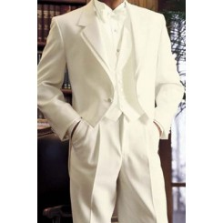 'Tailcoat' Ivory Full Dress Tails Tuxedo Jacket by After Six