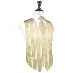 Bamboo Striped Satin Vest