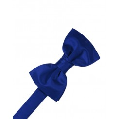 Royal Blue Solid Satin Bowtie