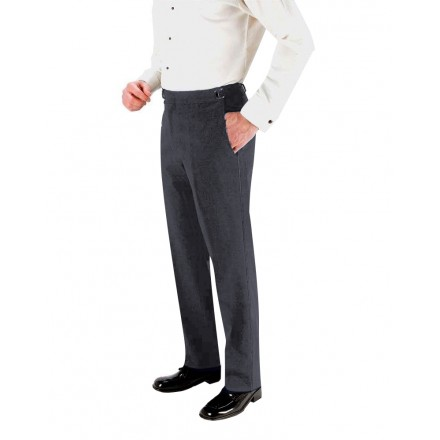 Charcoal 150's SKINNY-FIT Flat Front Suit Pants
