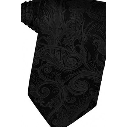 Black Tapestry Suit Tie
