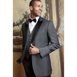 'Fitzgerald' Charcoal w/ Black Lapels Tuxedo Jacket by Cardi