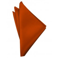 Persimmon Solid Satin Pocket Square