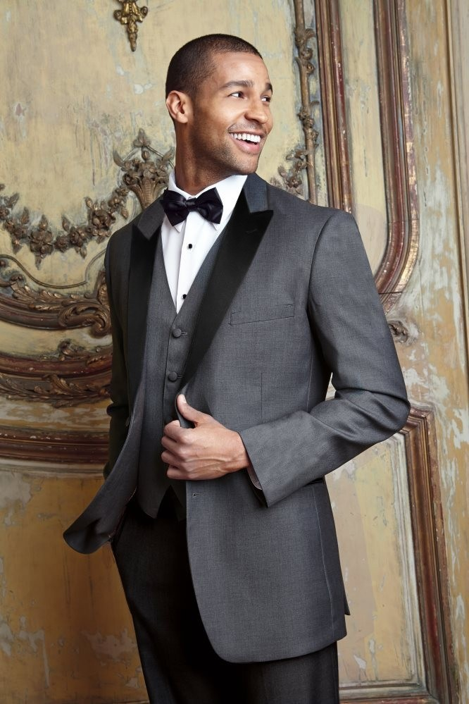 Charcoal Tuxedo With Black Lapels National Tuxedo Rentals