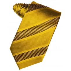 Gold Venetian Stripe Suit Tie
