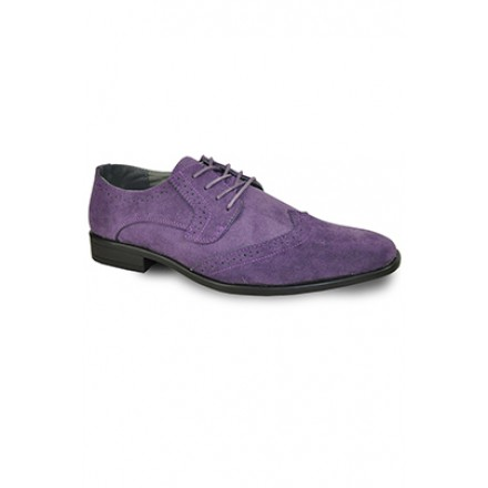 'Roland' Wing-Tip Oxford in Purple