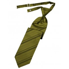 Fern Striped Satin Long Tie