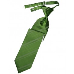 Clover Striped Satin Long Tie