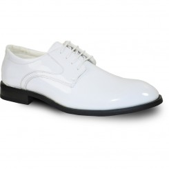'Tab' Round Oxford Premium Gloss Tuxedo Shoes