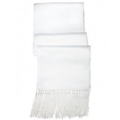 White Satin Scarf