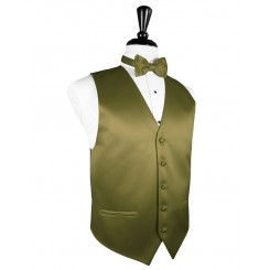 Fern Solid Satin Vest