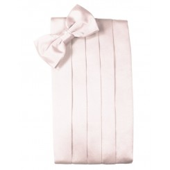 Blush Solid Satin Cummerbund