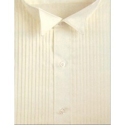 Wingtip Pleated Ivory Tuxedo Shirt