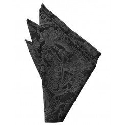 Pewter Tapestry Pocket Square