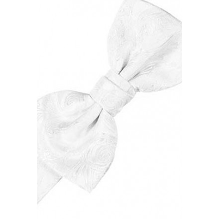 White Tapestry Bowtie