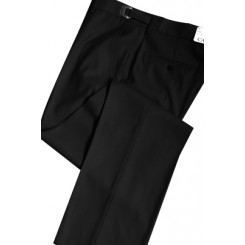 Black 150's Flat Front Suit Pants