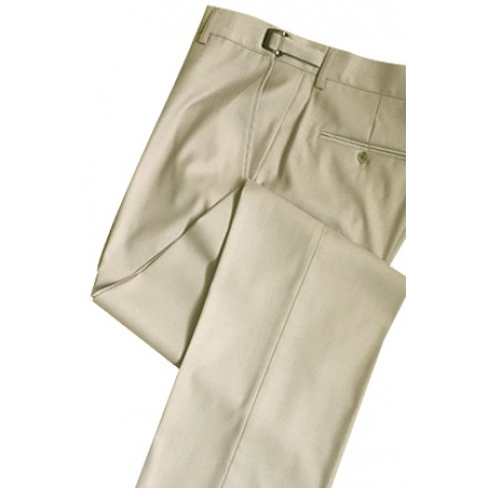 Aspen Tan Super 150's Flat Front Suit Pants