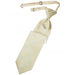 Bamboo Striped Satin Long Tie