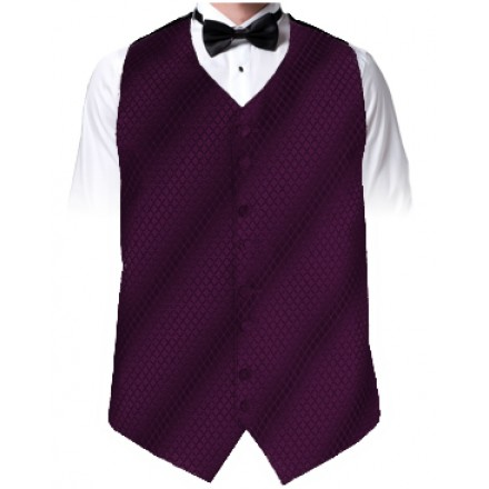 Plum Diamond Dot Vest