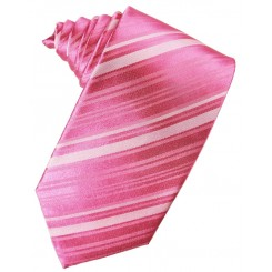 Bubblegum Striped Satin Suit Tie