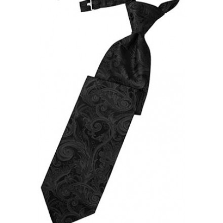 Black Tapestry Long Tie
