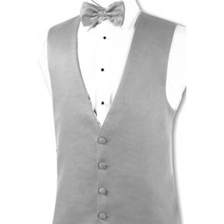 Perry Ellis 'Madison' Grey Tuxedo Vest