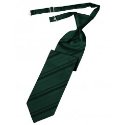 Holly Striped Satin Long Tie