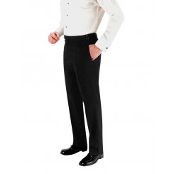 Black 150's SKINNY-FIT Flat Front Suit Pants