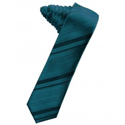 Oasis Striped Satin Skinny Suit Tie