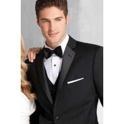 'Parker' Black 2-Button Notch Tuxedo Jacket by Ike Behar