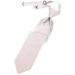 Blush Solid Satin Long Tie