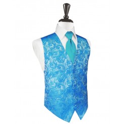 Turquoise Tapestry Vest