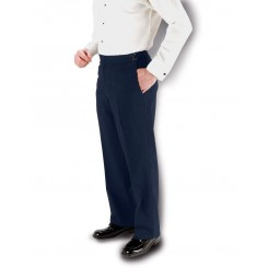 Fitzgerald Navy Super 150's Slim-Fit Flat Front Tuxedo Pants