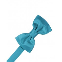 Turquoise Solid Satin Bowtie