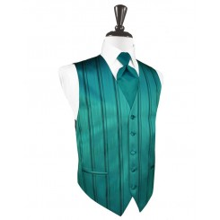 Jade Striped Satin Vest