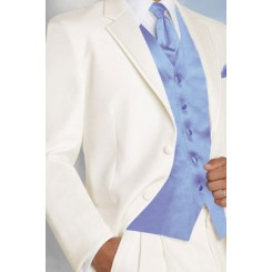'Virgo' Ivory Tuxedo Jacket by Perry Ellis