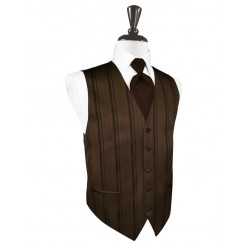 Chocolate Striped Satin Vest
