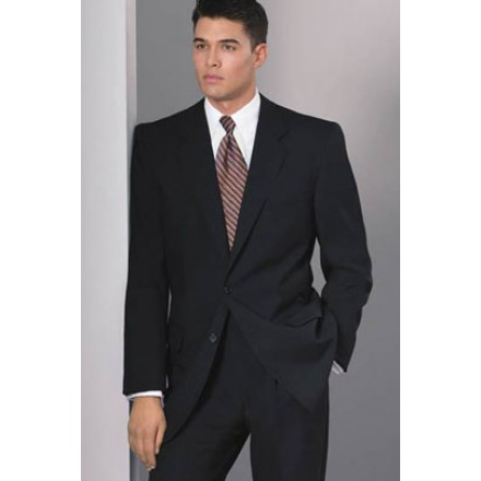 Suit Jacket 2B' Black Suit 2-Button Jacket from our Private Label