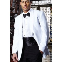 Premiere' White Shawl Dinner Jacket by Cardi