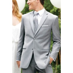 'Madison' Grey Tuxedo Jacket by Perry Ellis