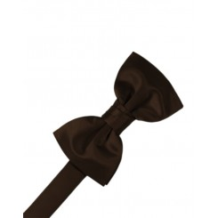 Chocolate Solid Satin Bowtie