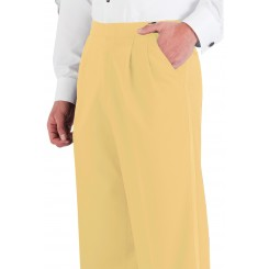 Maize Pleated Tuxedo Pants