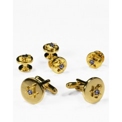 12 - Mason Gold Cufflink and Stud Set