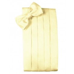 Canary Solid Satin Cummerbund